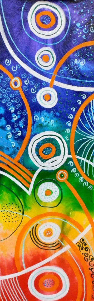 Chakra Flow - Acrylic . 30 x 90 cm. $950
