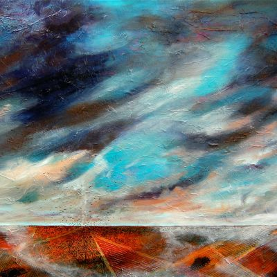 Storm Fields - Acrylic and Collage 150 x 90 cm  $4000