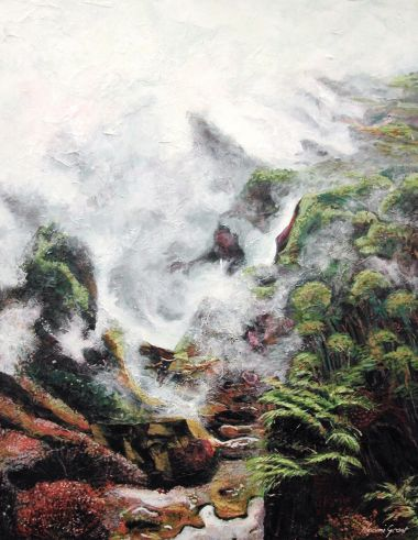 Steaming Vegetation - Acrylic 90x70 cm