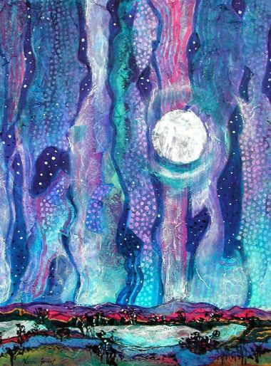 Moonlight Mystery - Acrylic 45 x 70 cm