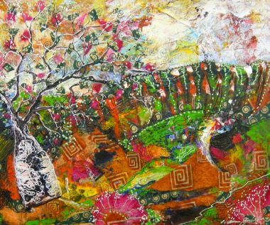 Kimberley Spring - Acrylic and Collage 50 x 60 cm