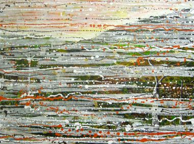 Stripping the Land - Collage and Acrylic 75x 90cm