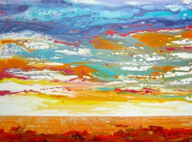 Beautiful Dawn - Acrylic 90 x 120 cm