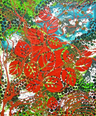 Bush Blooms - Acrylic and 60 x 50 cm $850