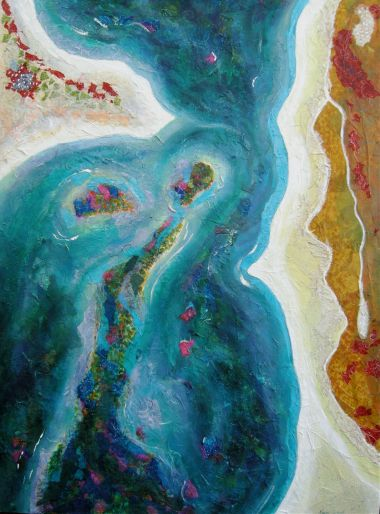 Opals of the Sea - Acrylic 120 x 90 cm