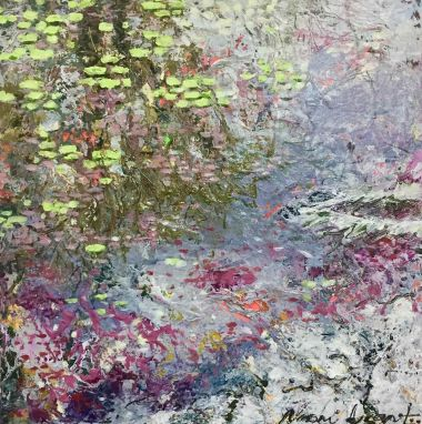 Monet Magic - Acrylic and Collage 30 x 30 cm
