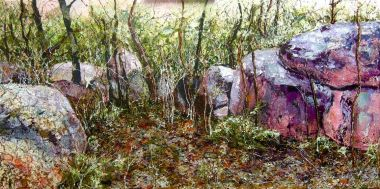 The Grove - Acrylic and Collage 120 x 60 cm $1900