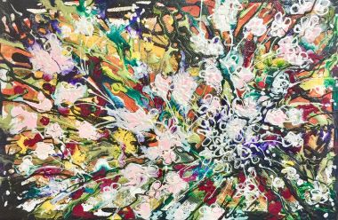 Wildflower Dance.jpg - Acrylic and Collage 20 x 30 cm $80